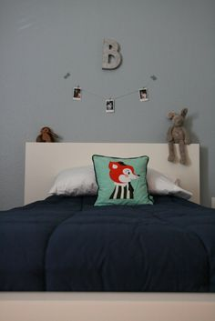 White and Navy boys bedroom