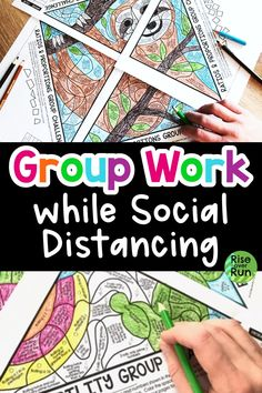 These activities encourage cooperative learning while social distancing! Read about how middle school and high school students can complete these coloring challenges in class. These are standards-based and so much more engaging than a worksheet!