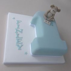 Baby boy number 1 birthday cake