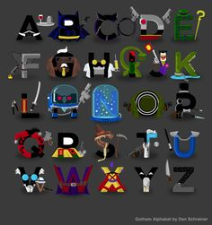 This is how I'm teaching my kids the alphabets. -The Gotham Alphabat by Dan Schreiner | Bleeding Cool Comic Book, Movies and TV News and Rumors