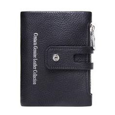 CONTACT'S 2018 Autumn New Arrival Genuine Leather Men's Wallet For Men Small Zipper Organizer Wallets Cash Carteira For Rfid