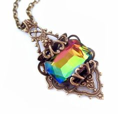 Filigrane Halskette Swarovski Halskette filigrane von Federikas