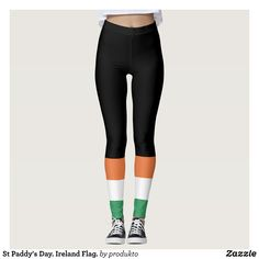 St Paddy's Day. Ireland Flag. Leggings : Beautiful #Yoga Pants - #Exercise Leggings and #Running Tights - Health and Training Inspiration - Clothing for #Fitspiration and #Fitspo - #Fitness and #Gym #Inspo - #Motivational #Workout Clothes - Style AND #comfort can both be possible in one perfect pair of custom #leggings. #St Paddy's Day. Ireland Flag. Leggings was crafted made with care each pair of leggings is printed before being sewn allowing for #fun and #creative designs on every square…