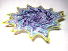 Hand Blown Glass Art Platter Bowl Wall Hanging 55 | eBay