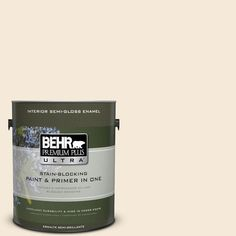 BEHR Premium Plus Ultra 1-gal. #bxc-47 Marquee White Semi-Gloss Enamel Interior Paint