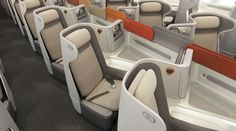 The highly competitive world of business class just got a little edgier with the overnight launch of the DoveTail seat. Aimed at the upper end of the business class market, the DoveTail is elbowin. British Airways, Plane Seats, Car Seats, Air France, Aircraft Interiors, United Airlines, Mode Of Transport, Business Class, Luxury Life