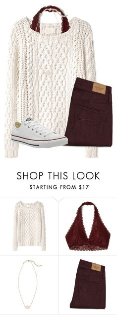 """Untitled #20"" by katielroberts on Polyvore featuring Band of Outsiders, Hollister Co., Kendra Scott, Abercrombie & Fitch and Converse"