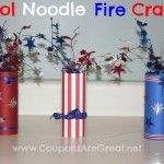 fire cracker, pool noodles, juli 4th, veterans day, kids crafts and memorial day