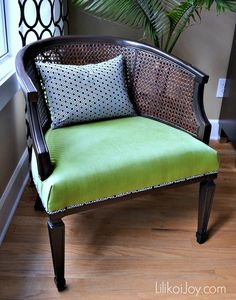 Hey Foxy Lady! A Barrel Cane Chair Makeover Now, if I could just find one of these chairs!!