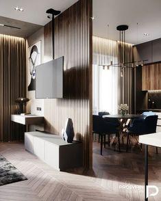 Living Room Partition Design, Living Room Divider, Living Room Tv Unit Designs, Room Partition Designs, Apartment Interior, Apartment Design, Home Living Room, Interior Design Living Room, Home Room Design