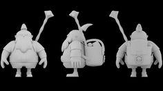 Dwarf traveler - cartoon character