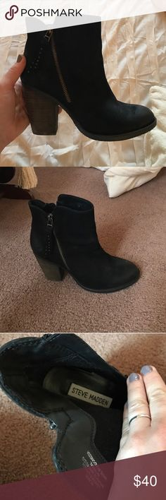Steve Madden Ryatt booties! Worn three times No flaws! So cute and comfy Steve Madden Shoes Ankle Boots & Booties