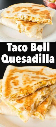 Taco Bell Quesadilla Recipe - Copycat Recipes. #copycat #copycatrecipe #appetizer #mexicanfood #tacotuesday #easyrecipe