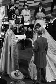July 29, 1981: Prince Charles marries Lady Diana Spencer in Saint Paul's Cathedral. Blessing of the Royal Couple.