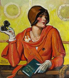 Ruth Eastman (brown cloche with curls!)