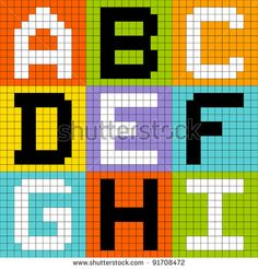 Pixel letters Stock Photos, Images, & Pictures | Shutterstock