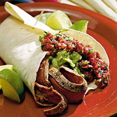 Top-Rated Main Dishes | Southwest Flank Steak with Salsa | SouthernLiving.com
