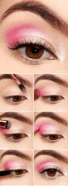 Best Eyeshadow Tutorials - Pretty Pink Eyeshadow Tutorial - Easy Step by Step Ho. - - Best Eyeshadow Tutorials - Pretty Pink Eyeshadow Tutorial - Easy Step by Step How To For Eye Shadow - Cool Makeup Tricks and Eye Makeup Tutorial With . Make Up Tutorials, Makeup Tutorial For Beginners, Best Eyeshadow, Makeup Eyeshadow, Makeup Brushes, How To Do Eyeshadow, Makeup Remover, Eyeshadow Palette, Makeup Eyebrows