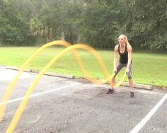 muscle ropes battle exercise