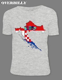 eadd4c23 2017 Online T Shirt Croatia Flag Map for Short Sleeves Cool Tee Shirts 6  colors. Men's Clothing
