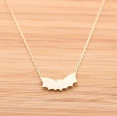 BAT necklace in gold