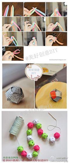 diy weave a paper ball ornament