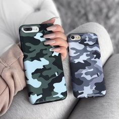 Green Camo iPhone Case - Cheap Phone Cases For Iphone 7 Plus - Ideas of Cheap Phone Cases For Iphone 7 Plus - iPhone 8