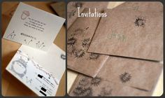 Totoro Invitation  Should have done this for my party!