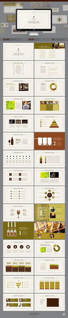 PowerPoint Template #powerpoint #powerpointtemplate #presentation Download: http://graphicriver.net/item/presentation-of-wine/8791818?ref=ksioks: