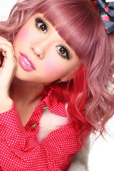Rui w/ cute pink hair #gyaru