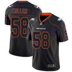 d91299af Nike Denver Broncos #58 Von Miller Lights Out Black Men's Stitched NFL  Limited Rush Jersey