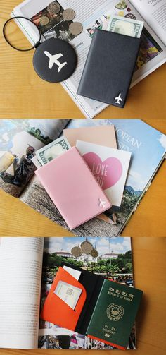 Are you looking for a simple and useful case to carry your passport, cards, tickets at once? The Basic Anti Skimming Passport Case is a cute passport case that can help you with that! This passport case has a cute design with lovely color and has pockets to store the passport, 1 frequently used cards and your tickets. The RFID blocking film included with the case can also help you protect your personal information at all times! Organizing, Organization, World Domination, Travel Packing, Cute Designs, Passport, Traveling, Pockets, Times