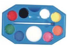 Jumbo Rainbow. 8 colores de 18ml (blanco, amarillo brillante, azul cielo, naranja, verde pasto, rosa brillante, negro y rojo vivo).
