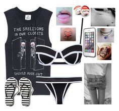 """""""to the beach! //Zoë"""" by peacetea-queen on Polyvore featuring UNIF, Abercrombie & Fitch, LifeProof, women's clothing, women's fashion, women, female, woman, misses and juniors"""
