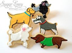 Puppy cookies, including poodles obviously.