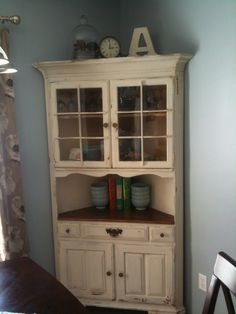 Milk Paint Corner China Cabinet