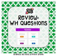 WH Questions {App Review} — Teach Speech 365