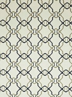 Clarence House WV7ALA-04 - Aladdin - Navy Cream Geometric Wallpaper $196.50