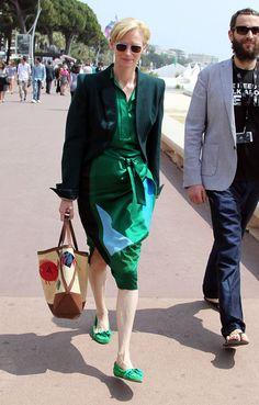 Tilda Swinton Photos - Famke Janssen Shops in Cannes - Zimbio