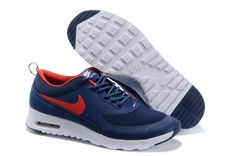 first rate fac03 443d9 187 Nike Air Max Thea Print Homme Running Bleu Profond Rouge Blanc Pas Cher  shoo shop news online with us
