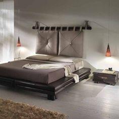 Testiera letto imbottita da applicare alla parete | Detalles En ...