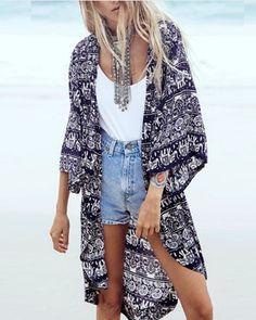 Venice Beach Kimono in Pink | Pink, Products and Beach kimono