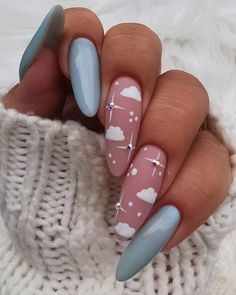 In look for some nail designs and ideas for your nails? Here's our listing of must-try coffin acrylic nails for stylish women. Sky Nails, Aycrlic Nails, Fire Nails, Coffin Nails, Summer Acrylic Nails, Best Acrylic Nails, Acrylic Nail Designs, Summer Nails, Matte Nail Art