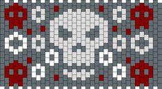 Red Skull Pony Bead Patterns   Misc Kandi Patterns for Kandi Cuffs