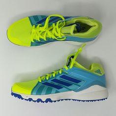 bb666347d Adidas LUX Field Hockey Turf Shoes Yellow Royal Blue Sz 8 Sz 9 ( AQ651 –