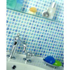 Graham & Brown Mosaic Blue Wallpaper by Graham & Brown - 50237