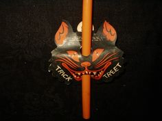 Vintage 1950 Halloween Candy Container Noise Maker - The Gatherings Antique Vintage