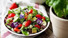 Quick and Easy Lunches - Strawberry Spinach Salad - Home Baked Joy Spinach Strawberry Salad, Spinach Salad, Caprese Salad, Fruit Salad, Grilled Chicken, Feta, Salad Recipes, Smoothie, Blueberry
