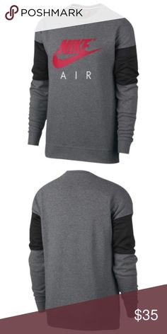 85f4a45ff2a2 See more. NIKE LONG SLEEVE AIR CREW - Boys Upgrade form your traditional  sweatshirt to this men s Nike