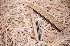 Straight Razor Wood Moustache and Beard Comb by GregLeaman on Etsy